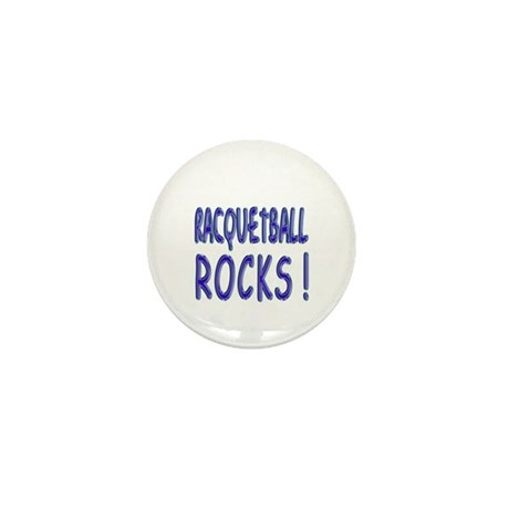 Racquetball Rocks ! Mini Button (10 pack)