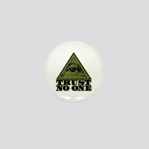 Trust No One (vintage distressed look) Mini Button
