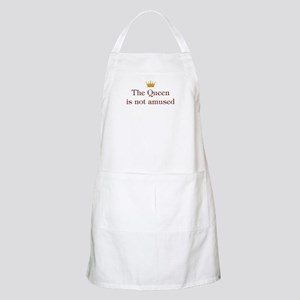 Queen Is Not Amused BBQ Apron