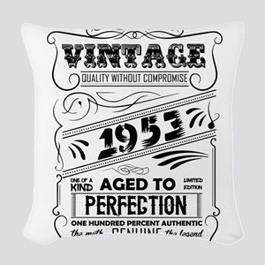 Vintage Aged To Perfection 1953 Woven Throw Pillow