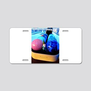 Bowling Gnome Aluminum License Plate