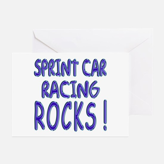 Sprint Car Racing Rocks ! Greeting Cards (Package