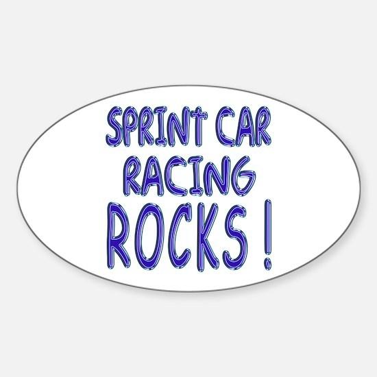 Sprint Car Racing Rocks ! Oval Decal