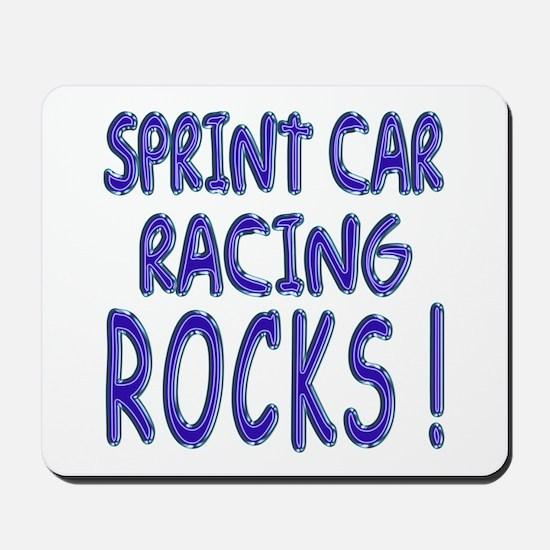 Sprint Car Racing Rocks ! Mousepad