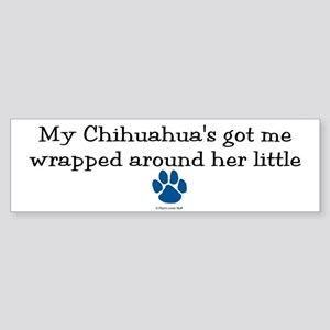 Wrapped Around Her Paw (Chihuahua) Sticker (Bumper
