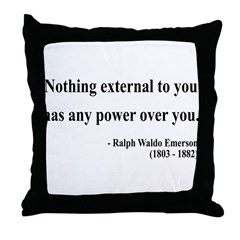 Ralph Waldo Emerson 15 Throw Pillow