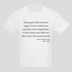 Ralph Waldo Emerson 17 Kids Light T-Shirt
