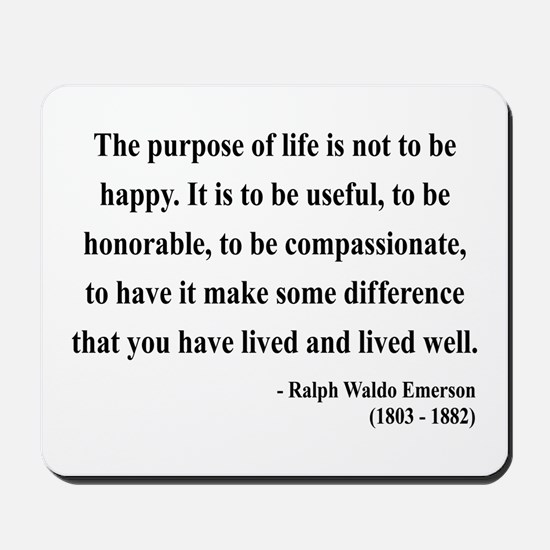 Ralph Waldo Emerson 17 Mousepad