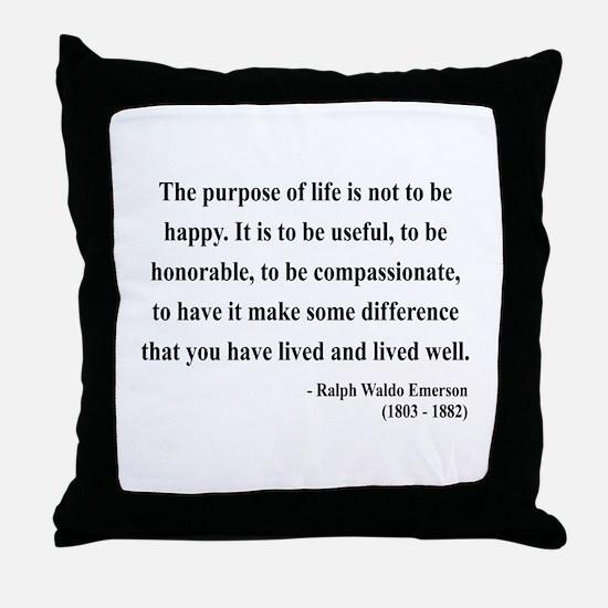 Ralph Waldo Emerson 17 Throw Pillow