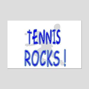 Tennis Rocks ! Mini Poster Print