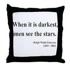 Ralph Waldo Emerson 25 Throw Pillow