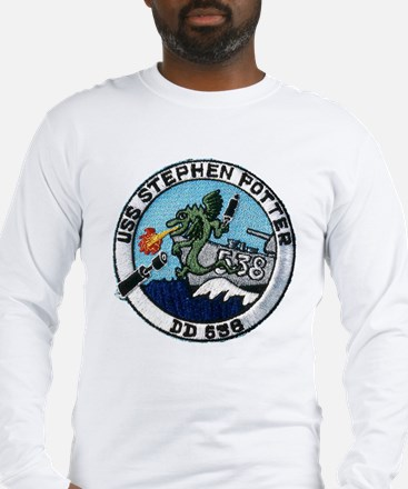 uss stephen potter patch transparent Long Sleeve T