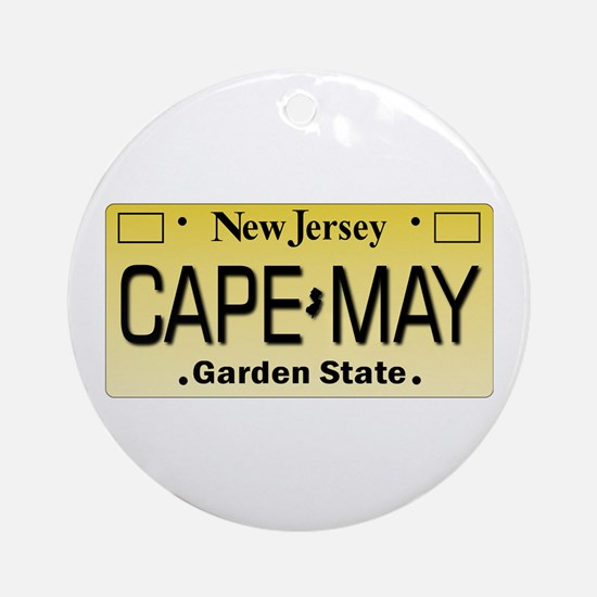 Cape_May_W_10x10.png Round Ornament