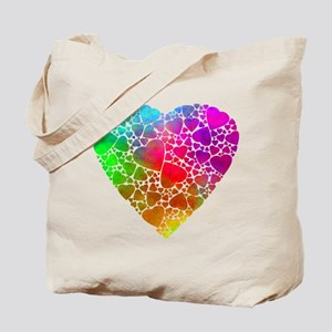 Colorful Hearts Tote Bag