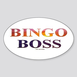 Bingo Boss Engrave MT Oval Sticker