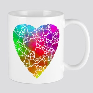Colorful Hearts Mugs