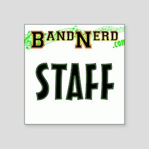 "BandNerd.com Staff Square Sticker 3"" x 3"""