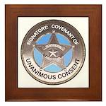 Sovereign & Covenant Badge on Framed Tile