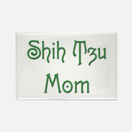 Shih Tzu Mom 13 Rectangle Magnet