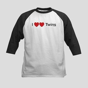 I Love Twins Kids Baseball Jersey