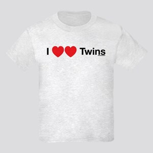 I Love Twins Kids Light T-Shirt