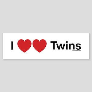 I Love Twins Bumper Sticker