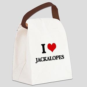 I love Jackalopes Canvas Lunch Bag