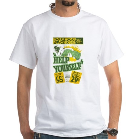 HELP YOURSELF white t-shirt