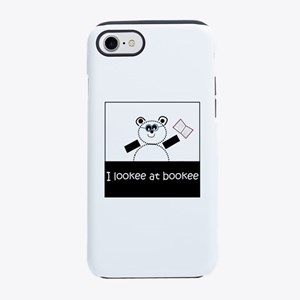 I Lookee At Bookee iPhone 7 Tough Case
