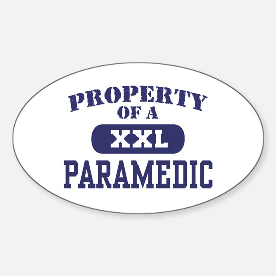 Property of a Paramedic Oval Decal