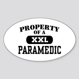 Property of a Paramedic Oval Sticker