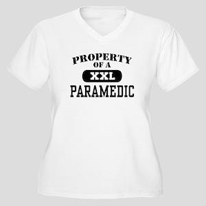 Property of a Paramedic Women's Plus Size V-Neck T