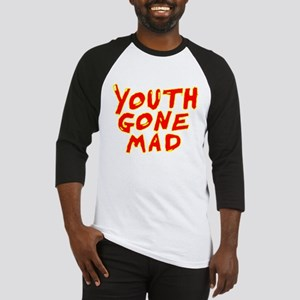 Youth Gone Mad red with yellow Baseball Jersey