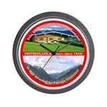 Peace in Switzerland Wall Clock