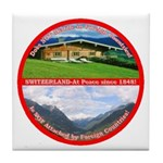 Peace in Switzerland Tile Coaster