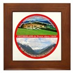 Peace in Switzerland Framed Tile