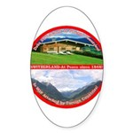 Peace in Switzerland Oval Sticker