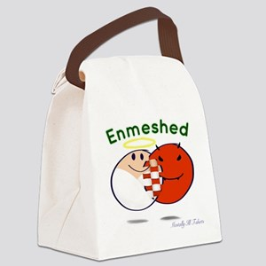 Enmeshed on white Canvas Lunch Bag