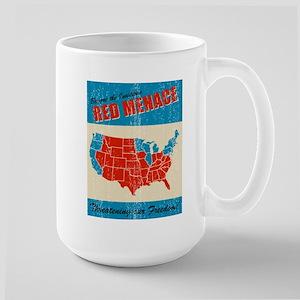 Retro Red (states) Menace Large Mug