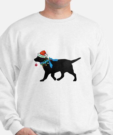 Black Lab Naughty Christmas Dog Sweatshirt