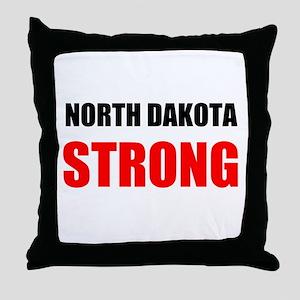 North Dakota Strong Throw Pillow