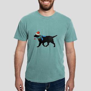 Black Lab Naughty Christmas Dog T-Shirt