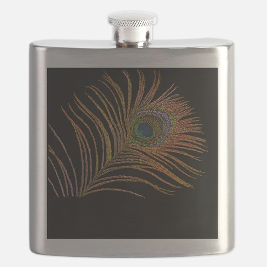 Cool Peacock Flask