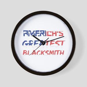 America's Greatest Blacksmith Wall Clock