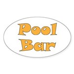 Pool Bar Sticker (Oval 50 pk)