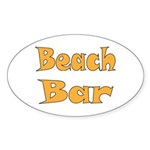 Beach Bar Sticker (Oval)