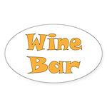 Wine Bar Sticker (Oval)