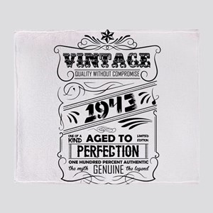 Vintage Aged To Perfection 1943 Throw Blanket