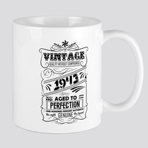 Vintage Aged To Perfection 1943 Mugs