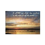 Psalm 8:9 Rectangle Magnet (100 pack)